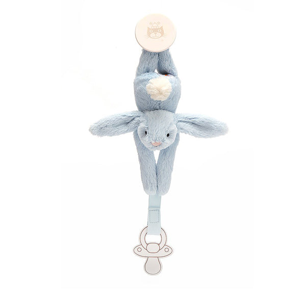 Jellycat Bashful Bunny Dummy Holder - Blue