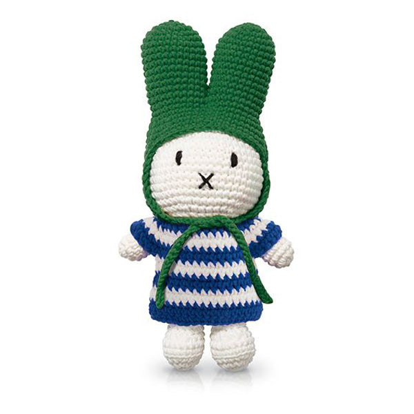 Just Dutch Miffy – Blue Striped Dress and Green Hat