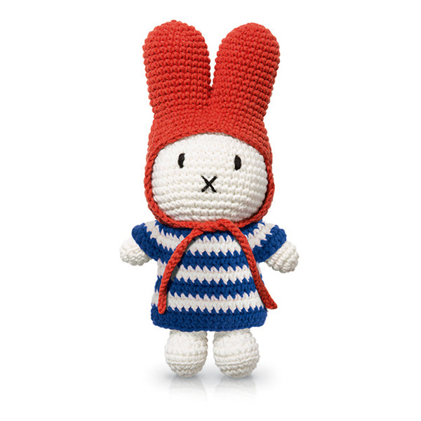 Just Dutch Miffy – Blue Striped Dress and Red Hat