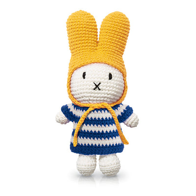 Just Dutch Miffy – Blue Striped Dress and Yellow Hat