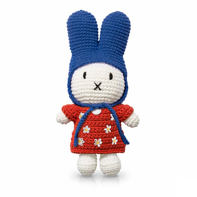 Just Dutch Miffy – Red Flower Dress and Blue Hat