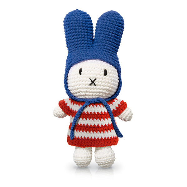 Just Dutch Miffy – Red Striped Dress and Blue Hat