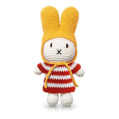 Just Dutch Miffy – Red Striped Dress and Yellow Hat