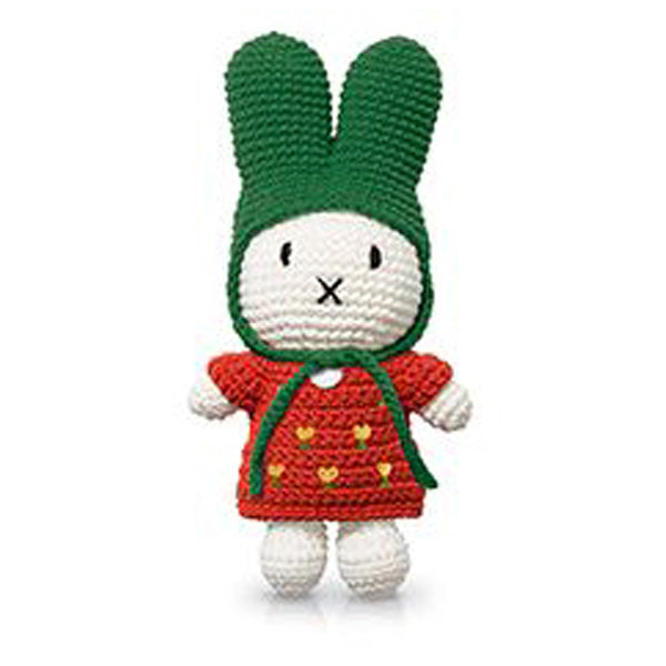 Just Dutch Miffy – Red Tulip Dress and Green Hat