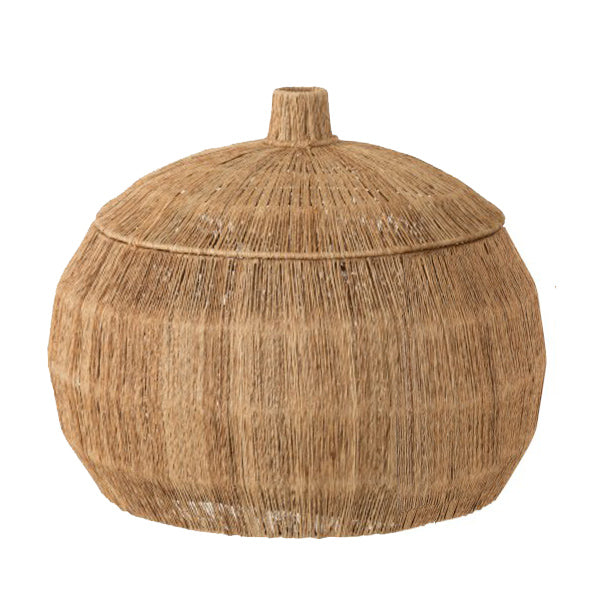 Jute Basket with Lid - Théo