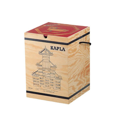 Kapla 280 Piece Wooden Building Set - Art Book RED