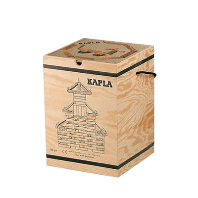 Kapla 280 Piece Wooden Building Set - Art Book BEIGE