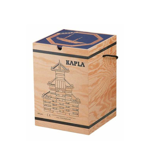 Kapla 280 Piece Wooden Building Set - Art Book BLUE