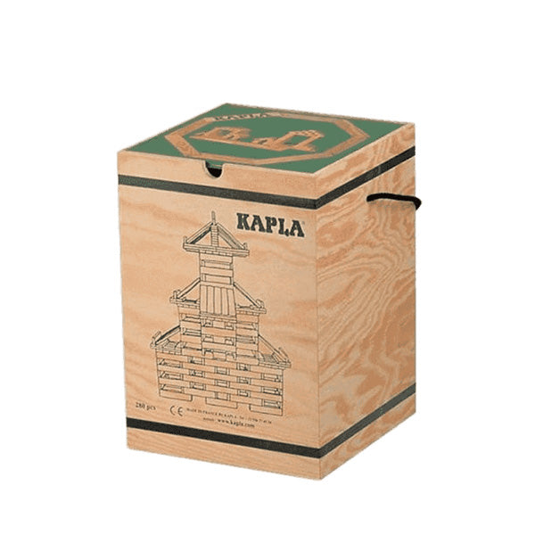 Kapla 280 Piece Wooden Building Set - Art Book GREEN