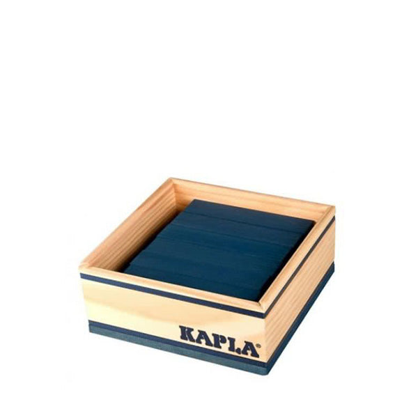 Kapla 40 Piece Wooden Building Set – Dark Blue
