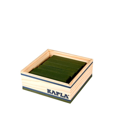 Kapla 40 Piece Wooden Building Set – Dark Green
