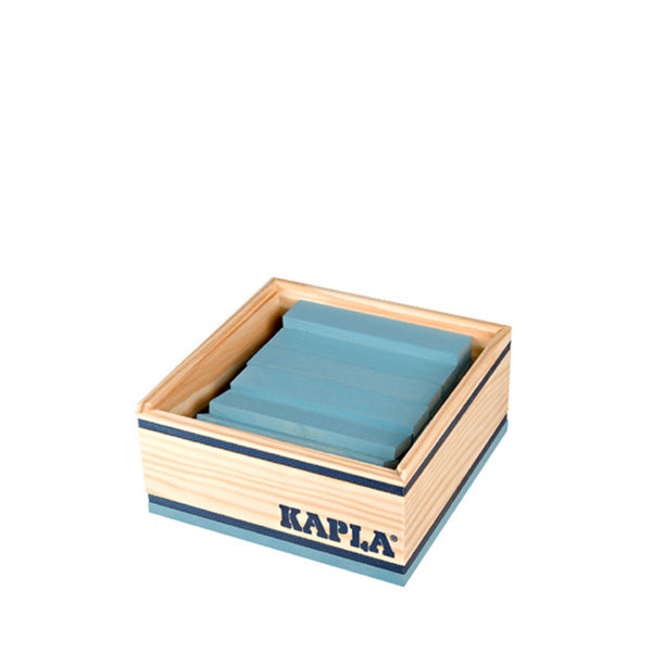 Kapla 40 Piece Wooden Building Set – Light Blue
