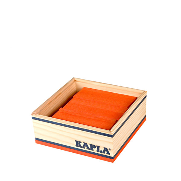 Kapla 40 Piece Wooden Building Set – Orange