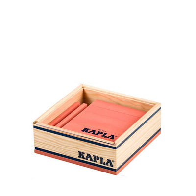 Kapla 40 Piece Wooden Building Set – Pink