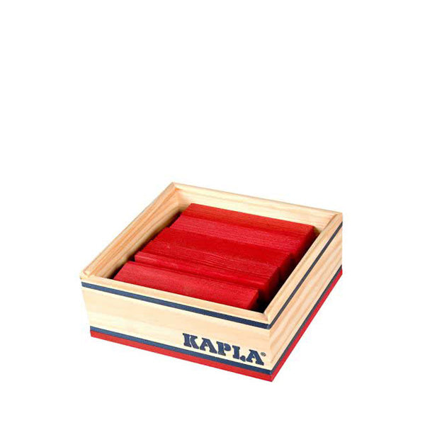 Kapla 40 Piece Wooden Building Set – Red