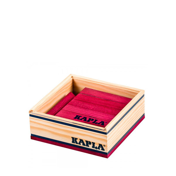Kapla 40 Piece Wooden Building Set – Wine Red