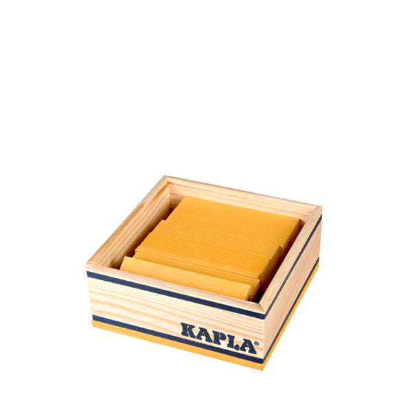 Kapla 40 Piece Wooden Building Set – Yellow