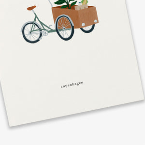 Kartotek Copenhagen Greeting Card - Cargo Bike