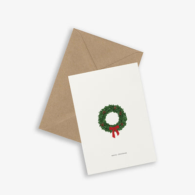 Kartotek Copenhagen Greeting Card - Christmas Wreath