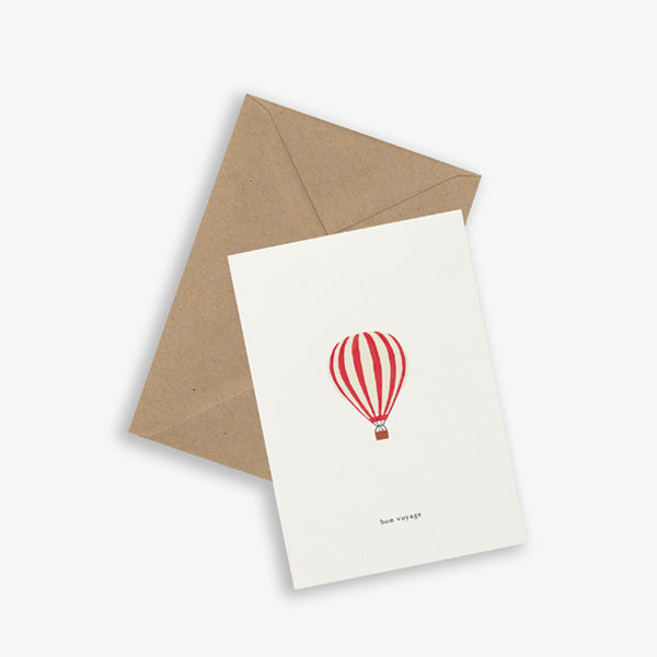 Kartotek Copenhagen Greeting Card - Hot Air Balloon