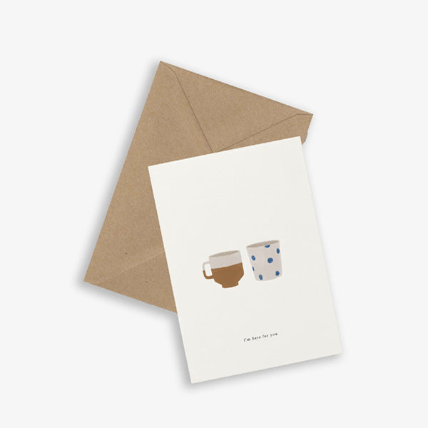 Kartotek Copenhagen Greeting Card - Two Cups