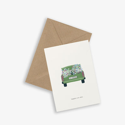 Kartotek Copenhagen Greeting Card - Wedding Car