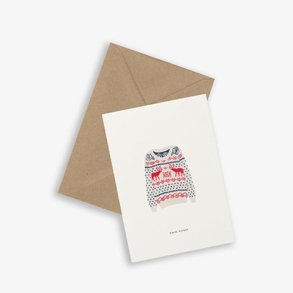 Kartotek Copenhagen Greeting Card - X-mas Sweater