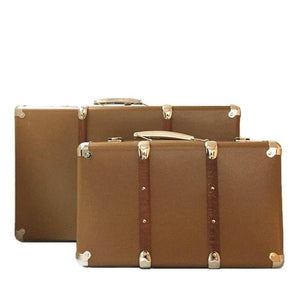 Kazeto Riveted Suitcase - Gold Brown