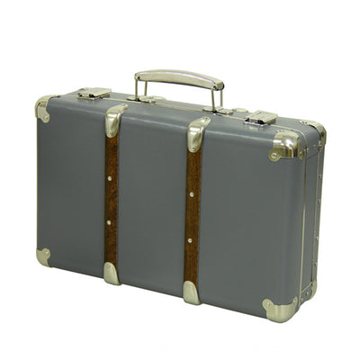 Kazeto Riveted Suitcase - Dark Grey