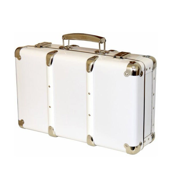Kazeto Riveted Suitcase - White