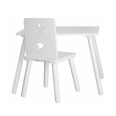 Kids Concept Table Star - White