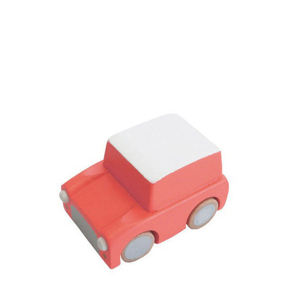 Kiko+ Kuruma Coral Orange Wooden Toy Car