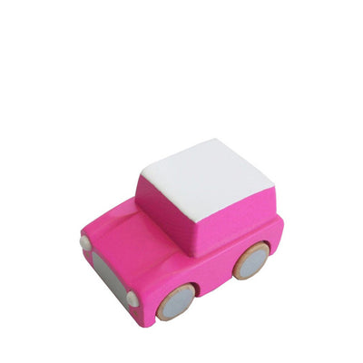 Kiko+ Kuruma Pink Wooden Toy Car