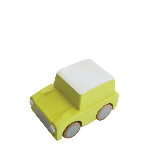 Kiko+ Kuruma Yellow Wooden Toy Car