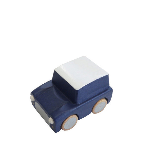 Kiko+ Kuruma Navy Wooden Toy Car