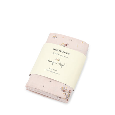 Konges Sløjd 3-Pack Muslin Cloths – Nostalgie Blush