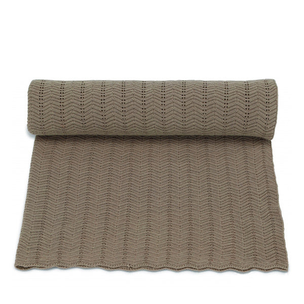 Konges Sløjd Blanket Pointelle Deux – Brown Melange