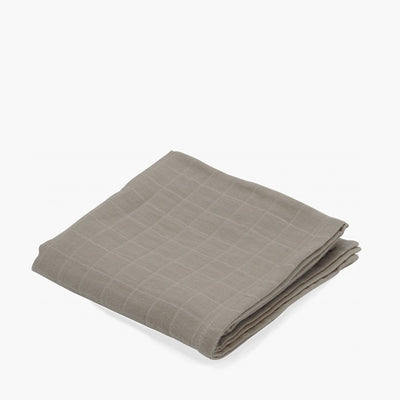 Konges Sløjd Big Muslin Swaddle - Dark Clay