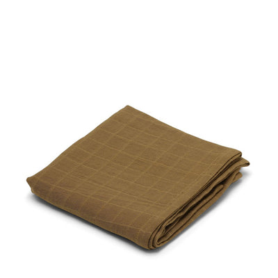 Konges Sløjd Big Muslin Swaddle - Dark Honey