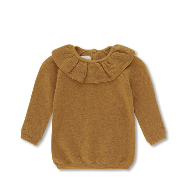 Konges Sløjd Fiol Collar Wool Knit Sweater – Mustard