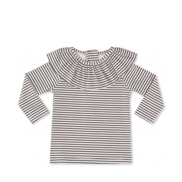 Konges Sløjd Soleil Girls UV L/S Tee - Striped Navy/Nature