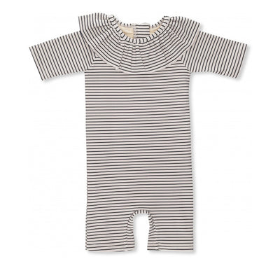Konges Sløjd Soleil Girls UV Suit - Striped Navy/Nature