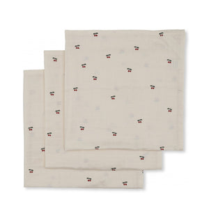 Konges Sløjd Muslin Cloth 3-Pack – Cherry