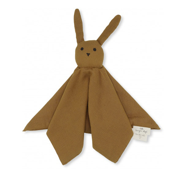 Konges Sløjd Sleepy Rabbit Cuddle Cloth - Dark Honey