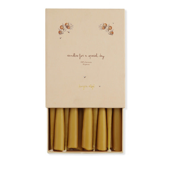 Konges Sløjd Birthday Train Beeswax Candles - 20 Pack