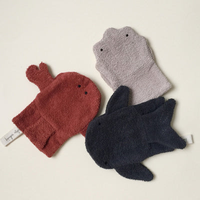 Konges Sløjd Washcloths Animals 3-Pack – Sea