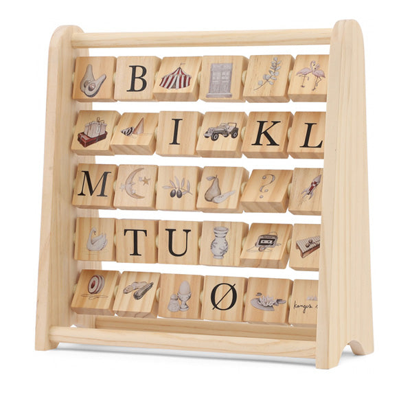 Konges Sløjd ABC Wooden Block Frame
