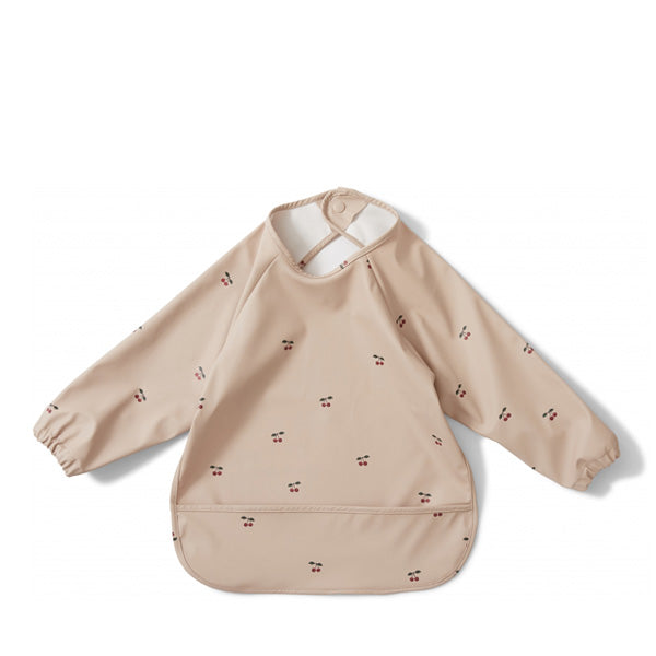 Konges Sløjd Dinner Bib Long Sleeve - Cherry