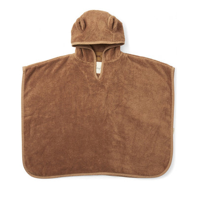 Konges Sløjd Kids Terry Poncho BEAR - Almond