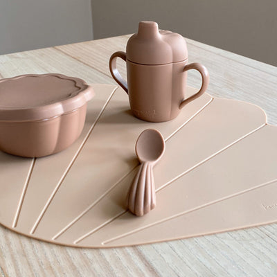 Konges Sløjd  Silicone Dinner Set CLAM - Blush